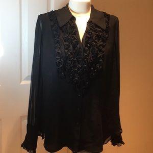 Coldwater Creek black blouse